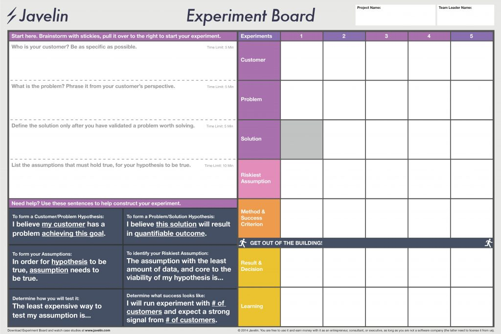 javelin board template | free to use from Google
